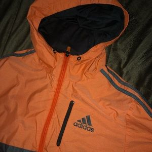 Orange Adidas Windbreaker Adidas Mens S